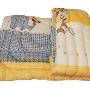 Одеяло гипоаллергенное + подушка, Жираф